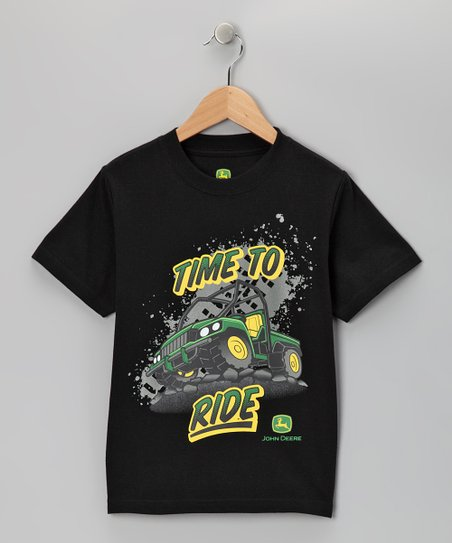 Black &#039;Time to Ride&#039; Tee - Boys