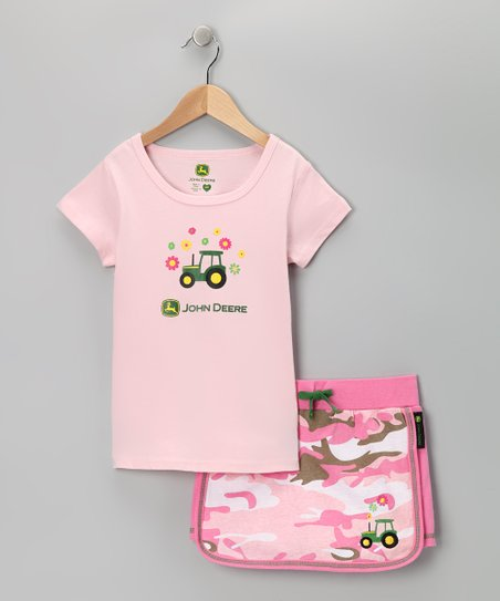 Pink Tractor Tee &amp; Skort - Girls