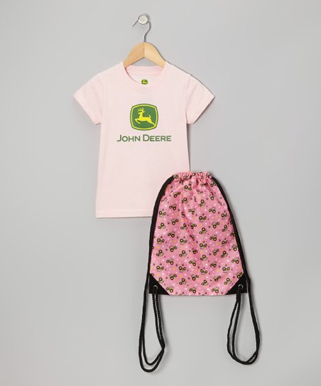 Light Pink Tee & Bag - Kids
