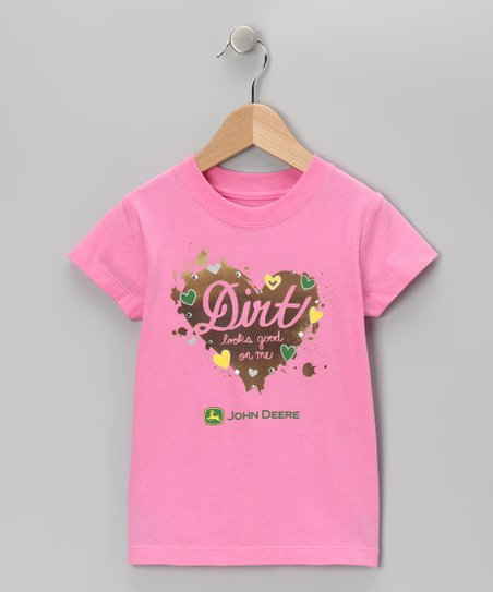 Pink 'Dirt' Tee - Girls