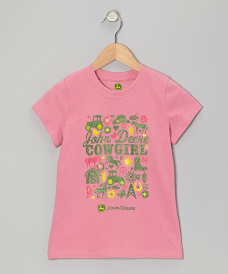Medium Pink 'Cowgirl' Tee - Girls