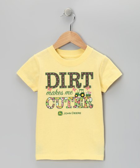 Yellow 'Dirt' Tee - Girls