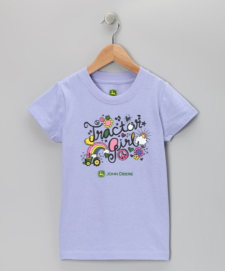 Purple &#039;Tractor Girl&#039; Tee - Girls