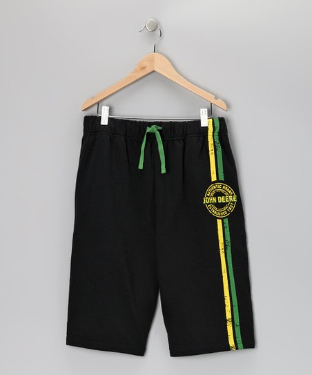 Black Terry Shorts - Toddler & Kids