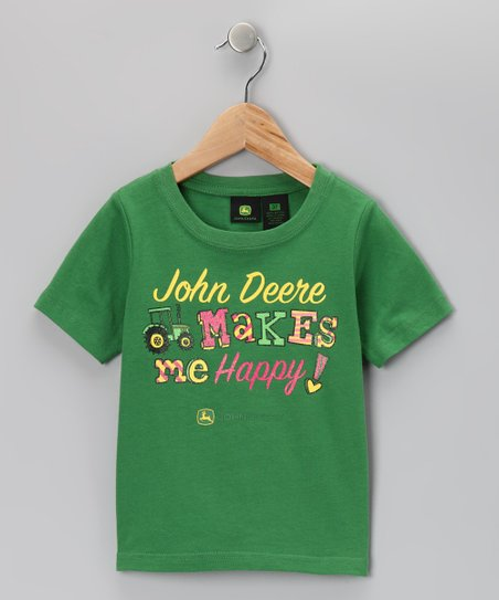 Green 'Makes Me Happy' Tee - Girls