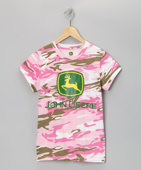 Pink Camouflage Logo Tee - Toddler