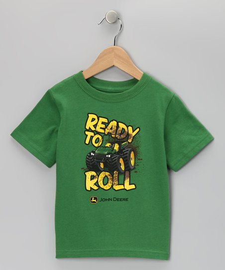 Green &#039;Ready to Roll&#039; Tee - Toddler