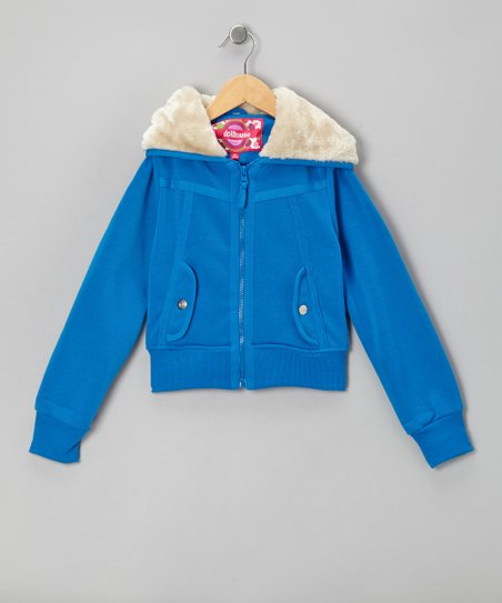 Electric Blue Zip-Up Hoodie - Toddler & Girls