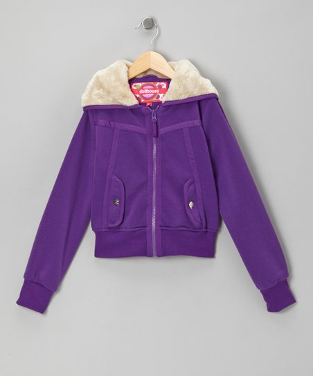 Purple Zip-Up Hoodie - Toddler & Girls
