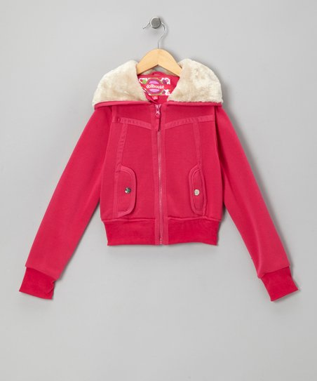 Fuchsia Zip-Up Hoodie - Toddler & Girls