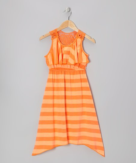 Orange Stripe Maxi Dress