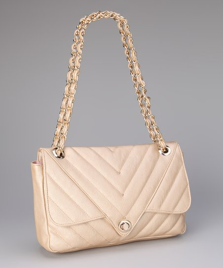Gold Leah Shoulder Bag