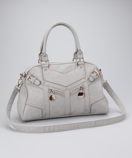 Gray Saran Satchel