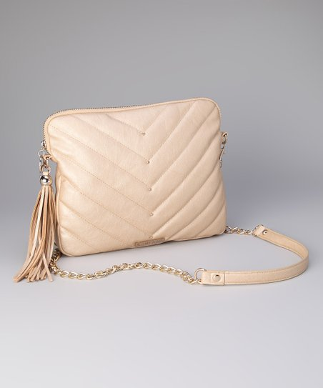 Gold Kim Tablet Crossbody Bag
