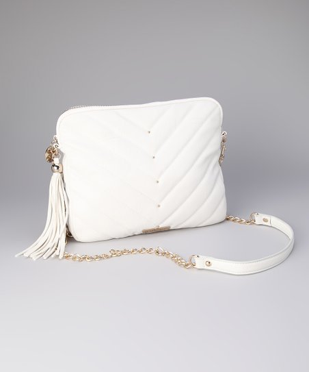 White Kim Tablet Crossbody Bag