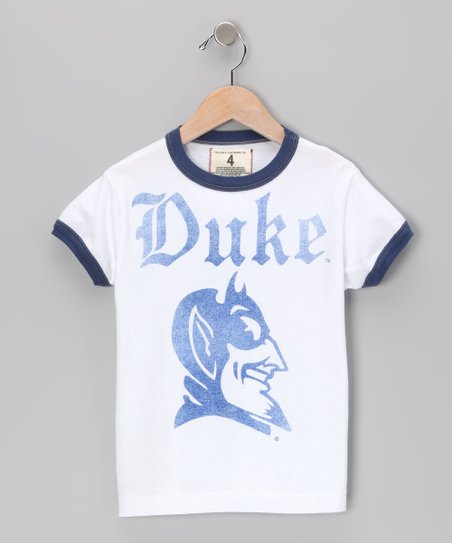 White 'Duke' Mascot Tee - Toddler & Boys
