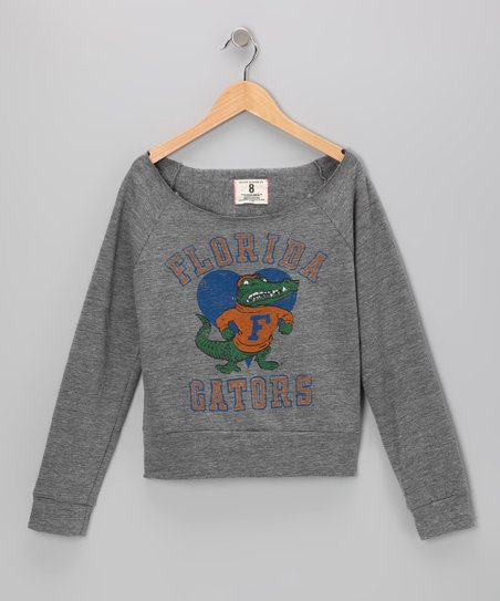 Heather Gray 'Florida' Sweatshirt - Girls
