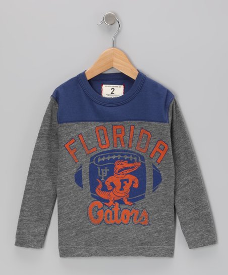 Heather Gray 'Florida' Football Tee - Toddler & Boys
