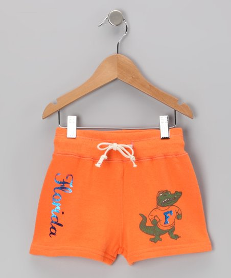 Energy Orange 'Florida' Shorts - Girls