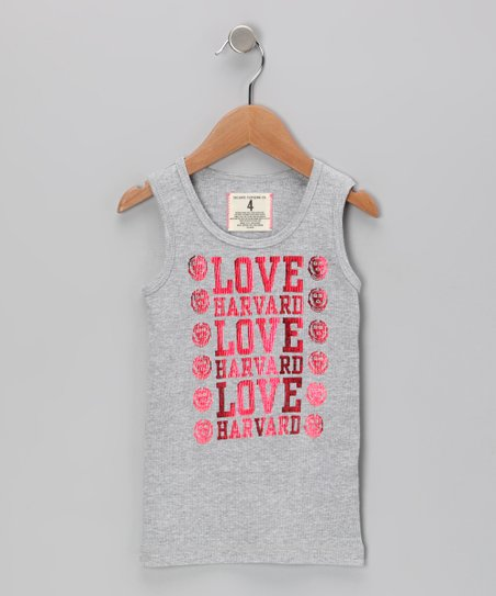 Heather Gray 'Love Harvard' Tank - Toddler & Girls