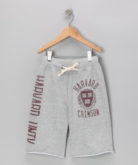 Heather Gray 'Harvard Crimson' Shorts - Boys