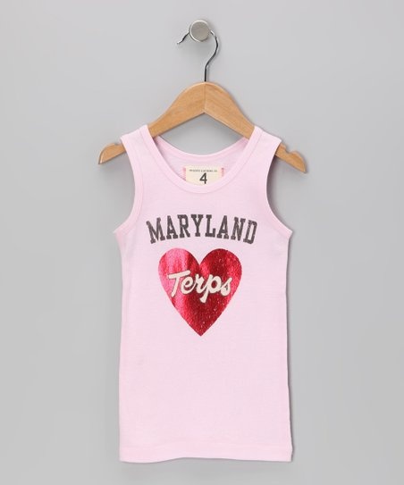 Light Pink 'Maryland' Tank - Girls