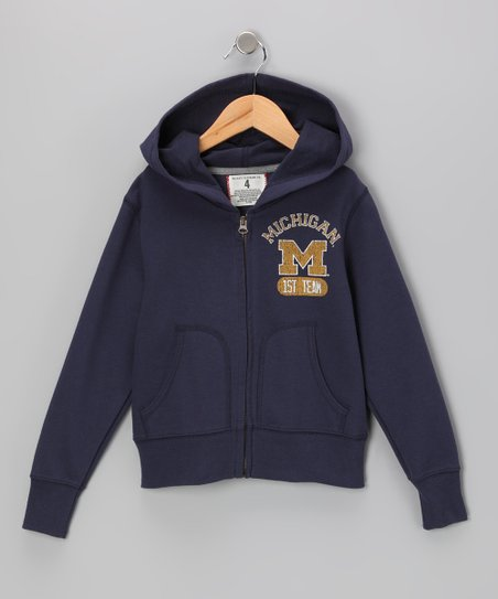 Mast Blue 'Michigan Go Blue' Zip-Up Hoodie - Toddler & Boys