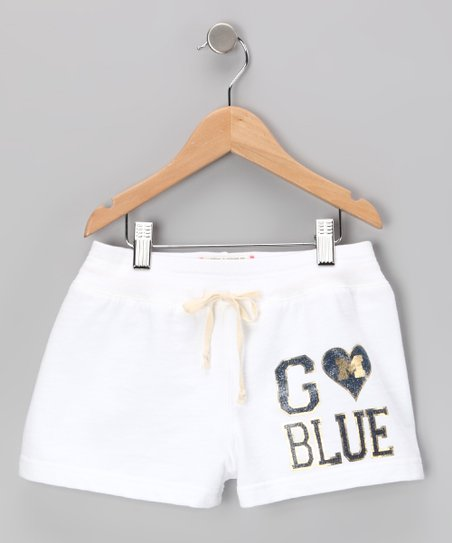 White &#039;Michigan&#039; Shorts - Toddler &amp; Girls