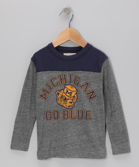 Heather Gray 'Michigan' Football Tee - Boys