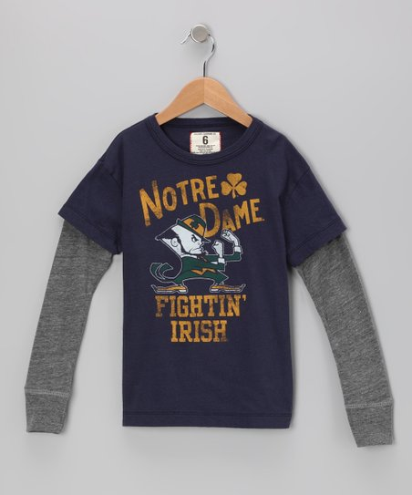 Mast Blue 'Notre Dame' Layered Tee - Toddler & Boys