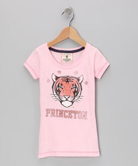 Light Pink 'Princeton' Star Tee - Toddler & Girls