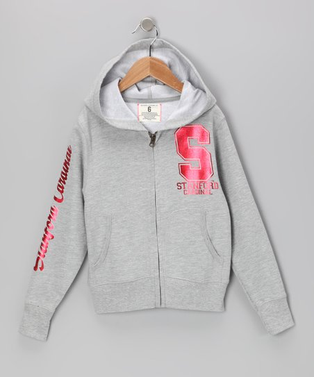 Heather Gray 'Stanford' Zip-Up Hoodie - Toddler & Girls
