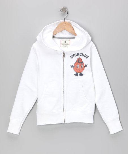 White 'Syracuse' Zip-Up Hoodie - Toddler & Kids