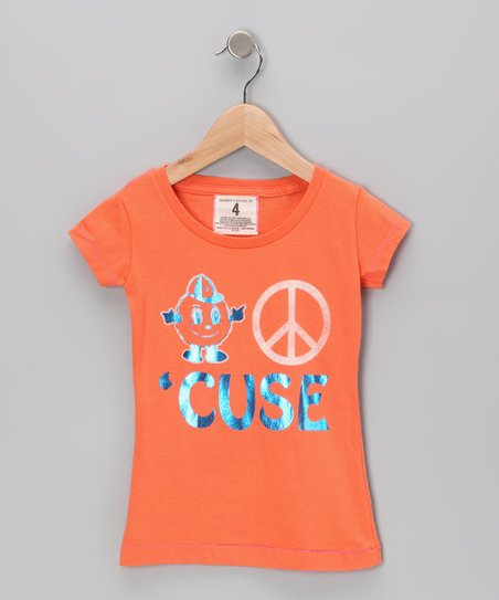 Bright Orange Peace Syracuse Tee - Toddler & Girls