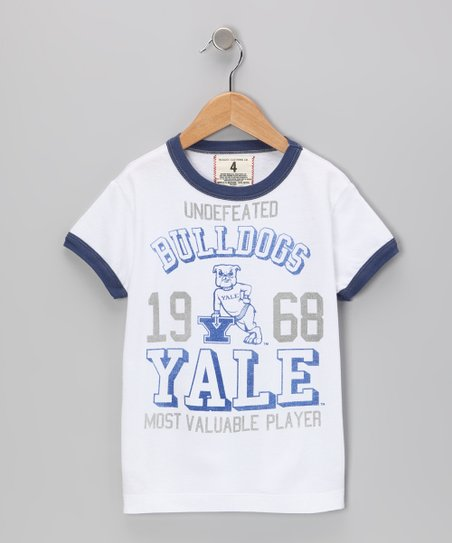 White 'Yale' MVP Tee - Toddler & Boys