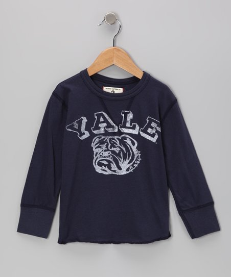 Mast Blue 'Yale' Bulldog Tee - Toddler & Boys