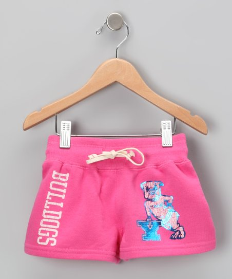 Petal Pink 'Yale' Shorts - Girls