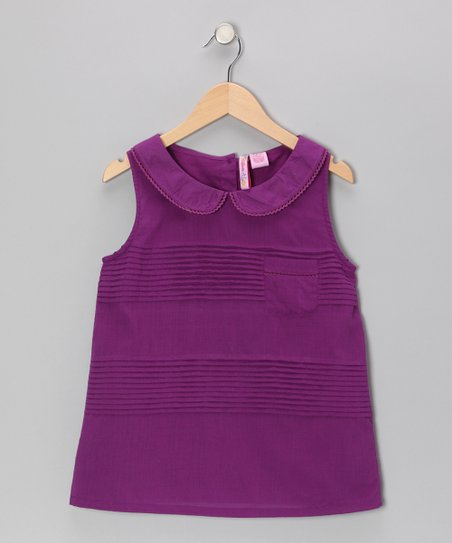 Purple Peter Pan Tunic - Girls