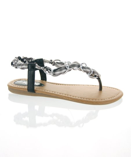 Black Infinity Ring Sandal