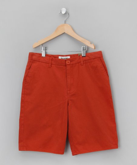 Orange Pocket Shorts - Boys