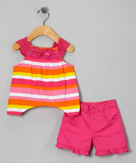 Pink Stripe Tunic & Shorts - Infant & Toddler