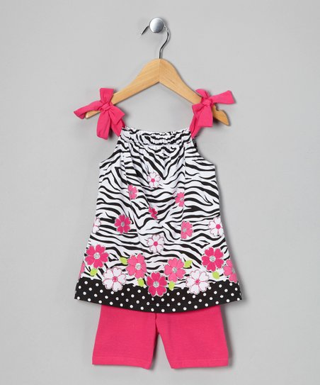 Pink Zebra Tunic & Shorts - Infant, Toddler & Girls