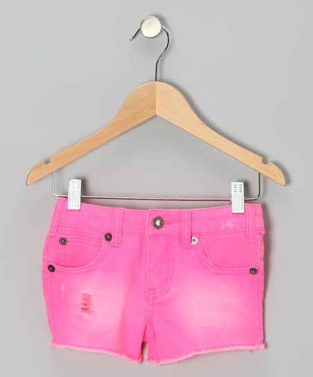 Neon Pink Cosmic Shorts - Girls