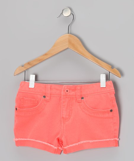 Neon Orange Candy Shorts - Girls