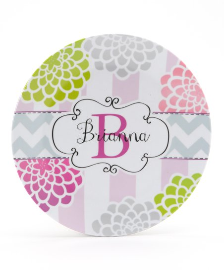 Plum &amp; Lime &#039;Mum&#039; Personalized Plate