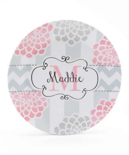 Pink & Gray 'Mum Personalized Plate