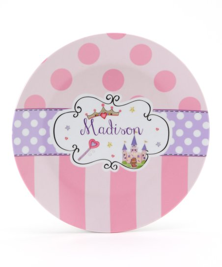 Pink &amp; Lavender Princess Personalized Plate