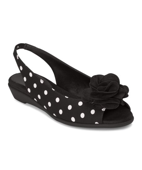 Black Dot Atmosphere Slingback