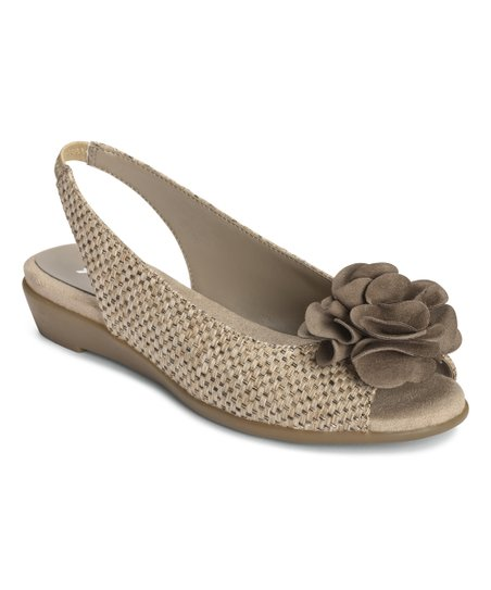 Tan Weave Atmosphere Slingback