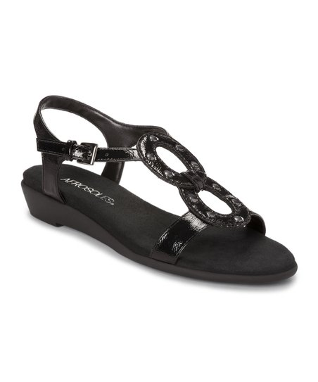 Black Patent Atomic Sandal
